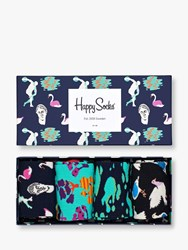 Happy Socks Day In The Park Gift Box One Size Pack Of 4 Multi