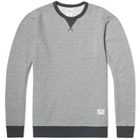 Bedwin And The Heartbreakers Ric Pocket Crew Sweat Charcoal