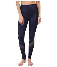 Alo Yoga Elevate Leggings Rich Navy Glossy Stormy Heather Black Women's Casual Pants