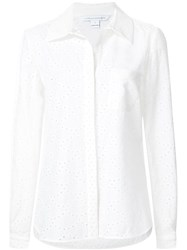 Diane Von Furstenberg 'Lorelei Two' Eyelet Shirt White
