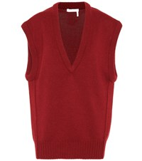Chloe Cashmere Sweater Vest Red