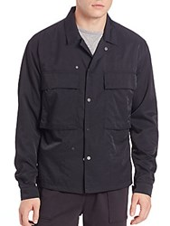 Vince Nylon Twill Shirt Jacket Black