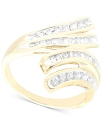 Wrapped In Love Diamond Wave Ring 1 2 Ct. T.W. 10K Gold Only At Macy's Yellow Gold
