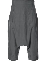 Lost And Found Ria Dunn Tailored Dropped Crotch Shorts Grey