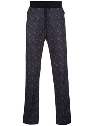 Coach Horse Carriage Print Track Trousers Black