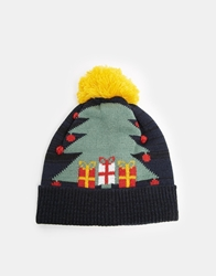 Asos Christmas Tree Bobble Beanie Navy