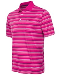 Greg Norman For Tasso Elba Men's Birdseye Multi Stripe Performance Pocket Polo Only At Macy's Victorian Rose