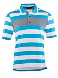 Chervo Antonino Stripe Regular Fit Polo Shirt Blue