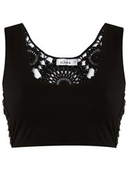 Amir Slama Crochet Top Black