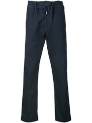 Casely Hayford Drawstring Trousers Men Cotton Spandex Elastane 38 Blue
