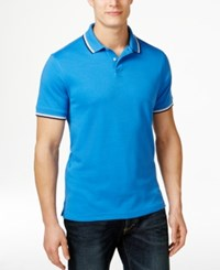 Club Room Men's Interlock Tipped Polo Only At Macy's Palace Blue