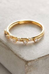 Anthropologie Kianne Double Stack Rings Gold