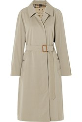 Burberry The Brighton Cotton Gabardine Trench Coat Beige Gbp