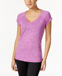 Ideology Rapidry Heathered Performance T Shirt Only At Macy's Purple Cactus