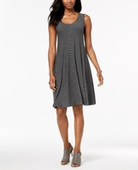 Styleandco. Style Co Petite Striped A Line Dress Created For Macy's Black Grey Stripe