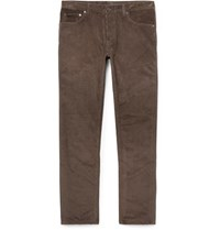 Berluti Cotton And Cashmere Blend Corduroy Trousers Brown