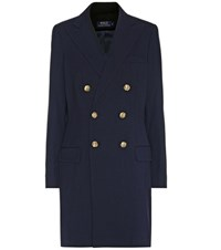 Polo Ralph Lauren Double Breasted Coat Blue