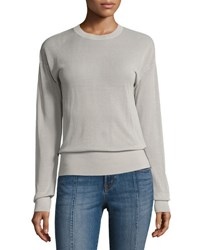J Brand Oberon Long Sleeve Pullover Sweater Brown