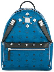 Mcm Big Studs Backpack Blue