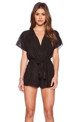 Twelfth St. By Cynthia Vincent Crossover Romper Black