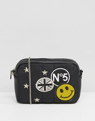 Silvian Heach Mini Cross Body Bag With Badges Black