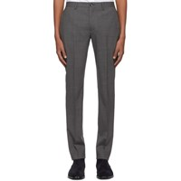 Paul Smith Ps By Grey Wool Mid Fit Trousers