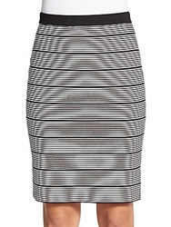Romeo And Juliet Couture Striped Fitted Skirt Black White