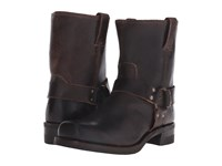 Frye Harness 8R Chocolate Waxed Suede Men's Pull On Boots Brown