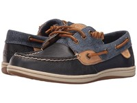 Sperry Songfish Waxy Canvas Navy Women's Lace Up Moc Toe Shoes
