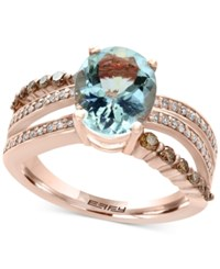 Effy Final Call Aquamarine 2 5 8 Ct. T.W. And Diamond 5 8 Ct. T.W. Ring In 14K Rose Gold