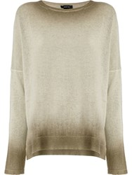 Avant Toi Oversized Gradient Sweater Neutrals