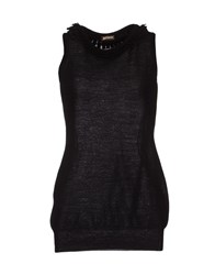 Galliano Knitwear Sleeveless Jumpers Women Black