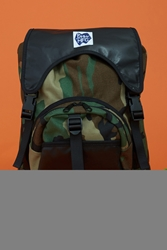 Peters Mountain Works Overlook Leather Flap Camo Backpack Camo Black