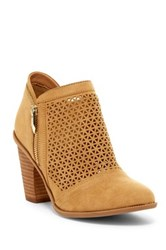 Fergie Dream Laser Cut Bootie Brown
