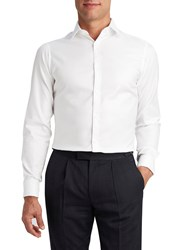 T.M.Lewin Men's Tm Lewin Super Fitted White Twill Double Cuff Shirt White