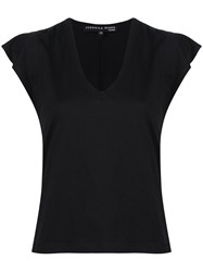 Veronica Beard Slim Fit Cap Sleeves T Shirt 60