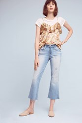 Anthropologie Amo Kick Mid Rise Cropped Jeans Denim Light