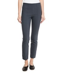 Vince Stretch Woven Seamed Leggings Dark Gray Dark Grey