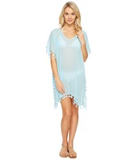 Seafolly Future Tribe Amnesia Kaftan Cover Up Bleach Aqua Women's Swimwear Blue