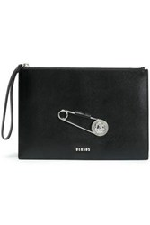 Versus By Versace Embellished Textured Leather Pouch Black