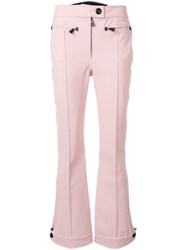 Moncler Grenoble Flared Bootcut Trousers Pink