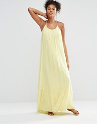 Vila Lala Maxi Dress Pale Banana Yellow