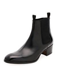 Tom Ford Wilde Patent Chelsea Boots Black