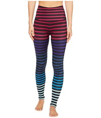 Beyond Yoga Lux Print High Waist Leggings Striped Jolie Women's Casual Pants Multi