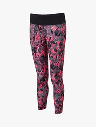 Ronhill Momentum Cropped Running Tights Pink Multi