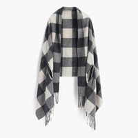 J.Crew Cape Scarf In Oversized Plaid