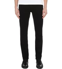 Paige Federal Slim Fit Mid Rise Jeans Black Shadow