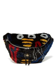 Aries X Jeremy Deller Dude Faux Fur Belt Bag Black Multi