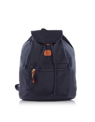 Bric's X Travel Blue Nylon Backpack