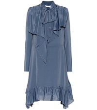 See By Chloe Crepe De Chine Dress Blue